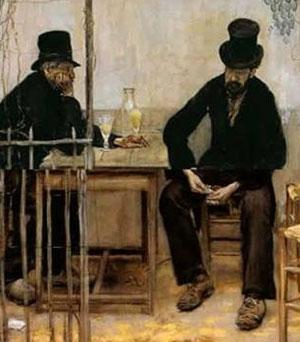 Jean-François Rafaelli, Les Buveurs d'absinthe ou les Déclassés, 1881, Fine Arts Museum, San Francisco
