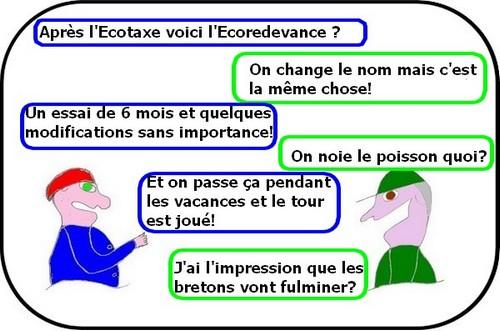 Ecotaxe ou Eco  ca va chauffer dans les chaumières bretonnes...