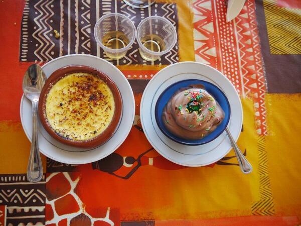 Crème brûlée et mousse chocolat