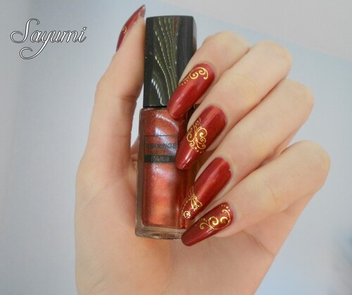 Nail Art Water Decals Dorés