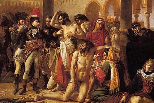 Détail Bonaparte visitant les pestiférés