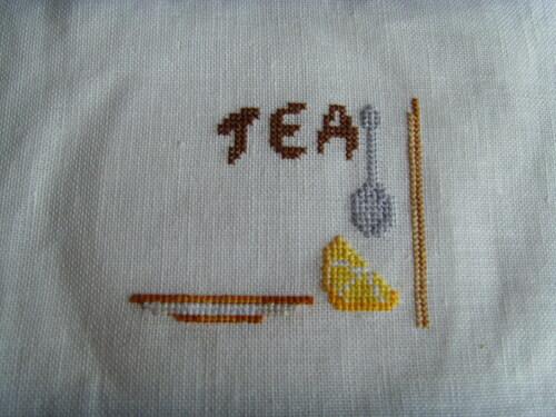 """Un petit sal """"thè""""....Une écharpe...."""