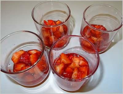 Verrines aux fraises et au fromage blanc
