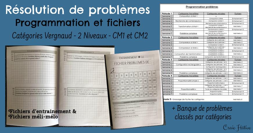 Problèmes : programmation et fichiers (Vergnaud)