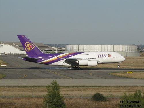 Airbus A 380 THAI  FWWAO Le 17 09 2012 à Blagnac.