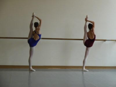 dance ballet technique ballet class at the barre