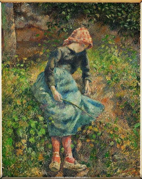 Camille Pissarro, Jeune fille à la baguette ou la bergère