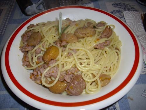 Spaghettis aux chataignes