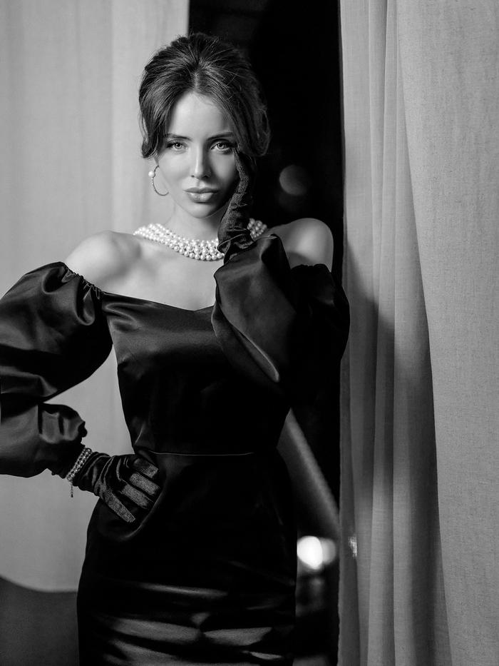 Portrait noir et blanc par Saharoza