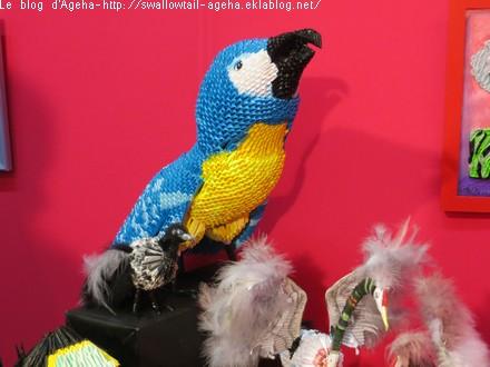 Origami perroquet