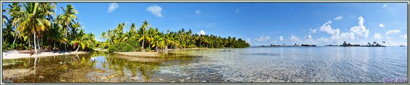 "Panorama du ""Motu au Sable Rose"" - Passe Sud - Atoll de Fakarava - Archipel des Tuamotu - Polynésie française"