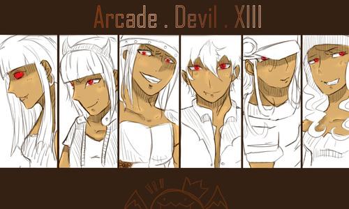 Dessin pour l'Arcade Devil XIII