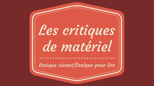 Lexique vivant/Lexique pour lire