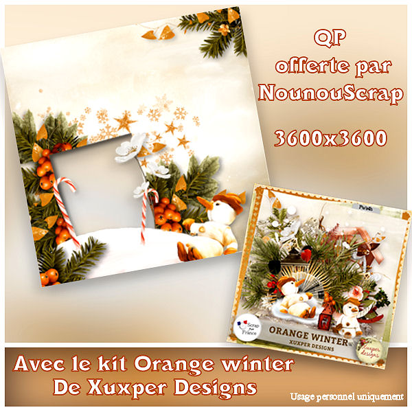"""Orange Winter"" de Xuxper Designs"