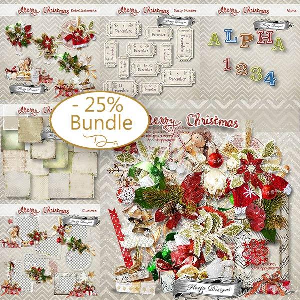Merry Xmas { Bundle PU } by Florju Designs
