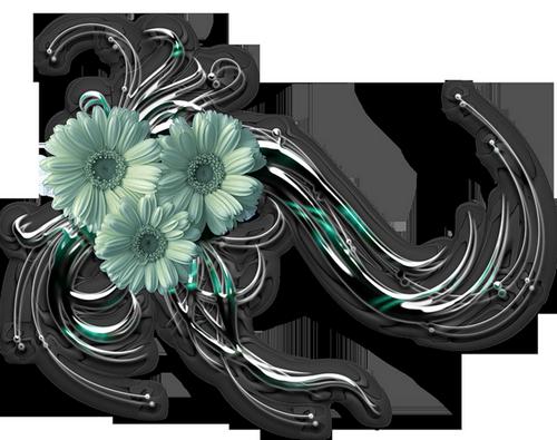 Eléments Vectoriels (fleuris) Série 18