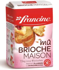 Brioche nature à la machine à pain