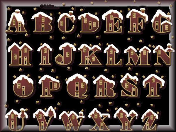 Tube alphabet de Noel 2984