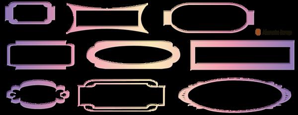Bandes de décoration avec boutons pour blog page 8
