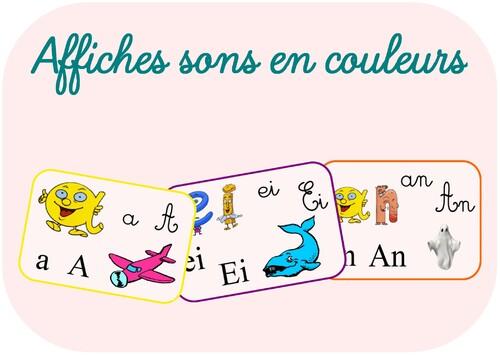 Affiches sons en couleurs Papyrus