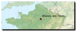 Situation nationale - Blandy les Tours est une commune située en Seine et Marne à l'est de Paris