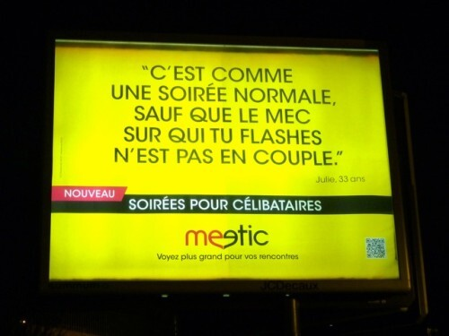 affiche meetic mobile couple