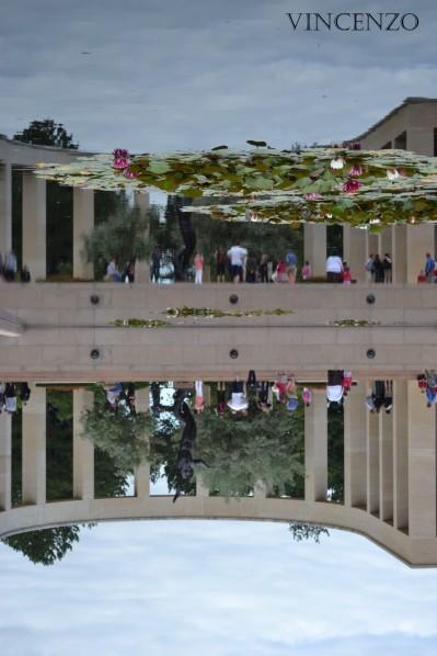Normandie cimetière américain reflets