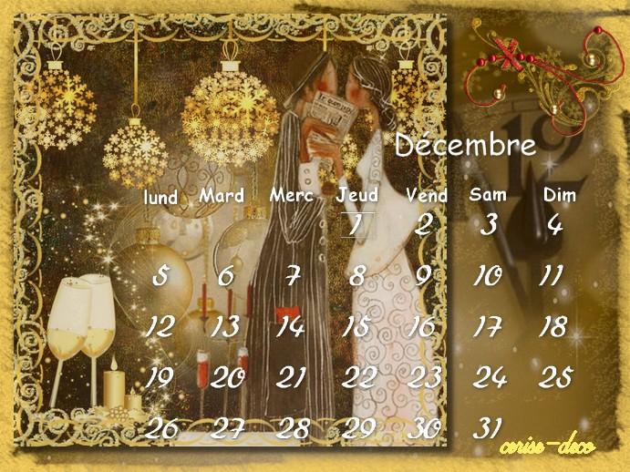 calendriers décembre pour le défi de sissi