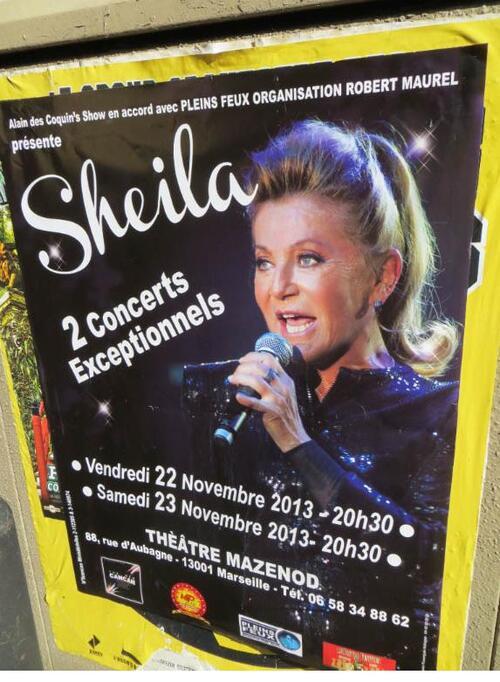 SHEILA à MARSEILLE 22/23 novembre 2013