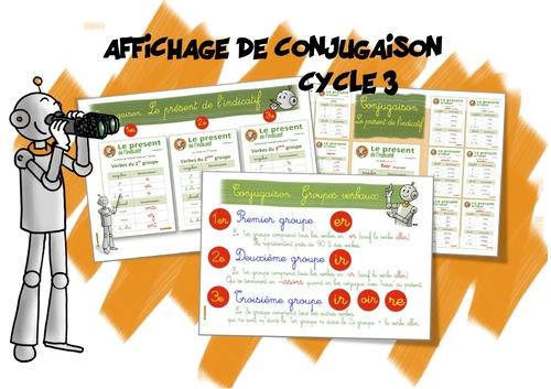 Affichage Conjugaison Cycle 3