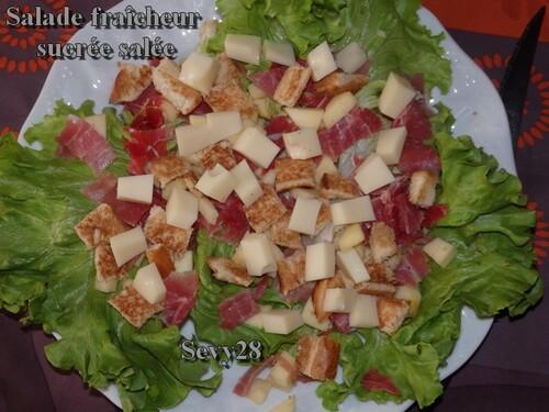 Salade fraîcheur sucrée salée