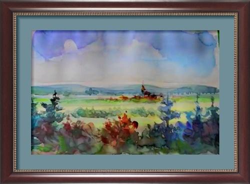 Dessin et peinture - vidéo 2585 : La peinture par la pratique et l'observation 2 - le paysage à l'aquarelle.