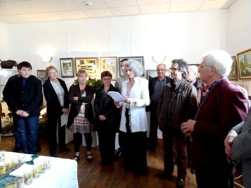 L'exposition des artistes du village de Maisey le Duc, en hommage à Joël Diot...