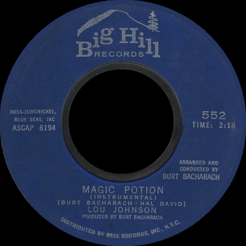 "Lou Johnson : CD "" The Magic Potion Of Lou Johnson "" SB Records DP 106 [ FR ]"