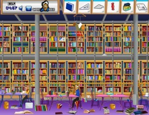 Hidden objects - Book stall
