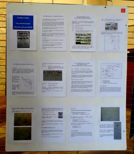 Une très belle exposition sur les 150 ans de la voie ferrée de Ravières à Châtillon sur Seine, à eu lieu Jully, dans l'Yonne