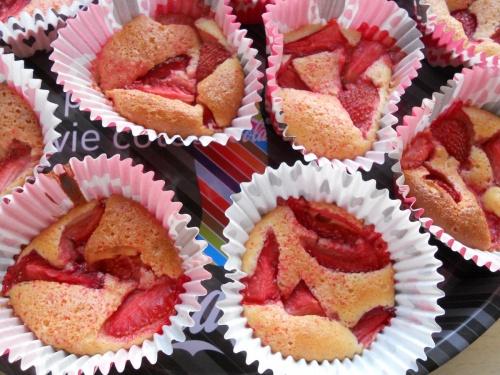 Muffins moelleux aux fraises