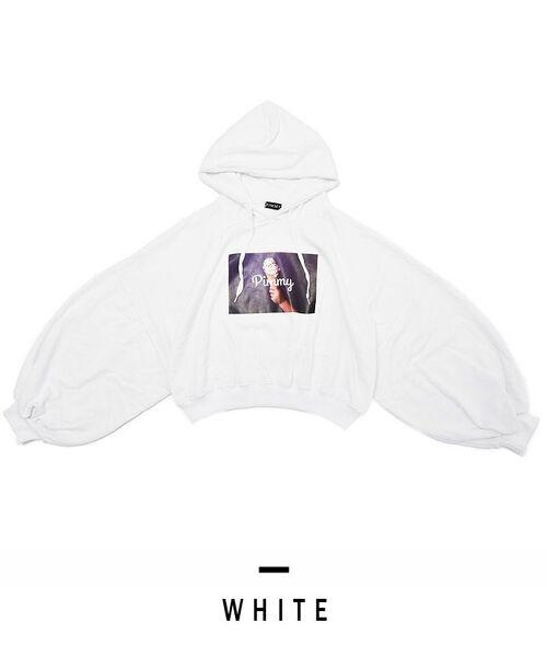 [PIMMY] - Pull à capuche glace - 5 292 ¥