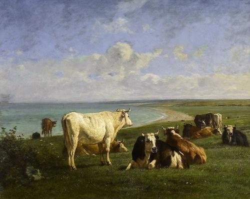 13 - Des vaches - Peinture