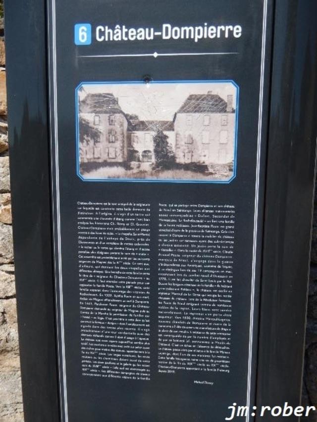 Journées du patrimoine, Le château de Dompierre les Églises, c'était mille ans d'histoire en une après-midi .
