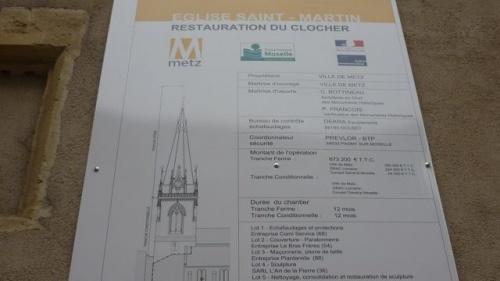 Panneau d'information apposé (17 octobre 2010)