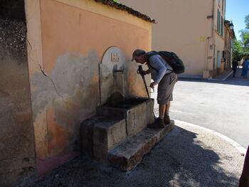 Une fontaine bienvenue