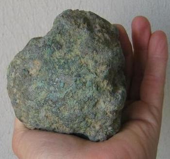 scorie métallurgique de minerai de cuivre  arrière.