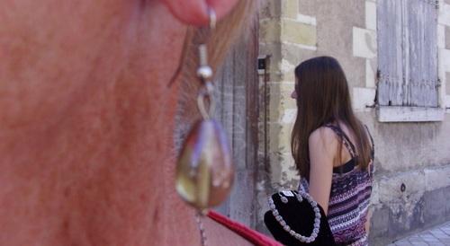 Boucles d'oreilles en verre en forme de goutte