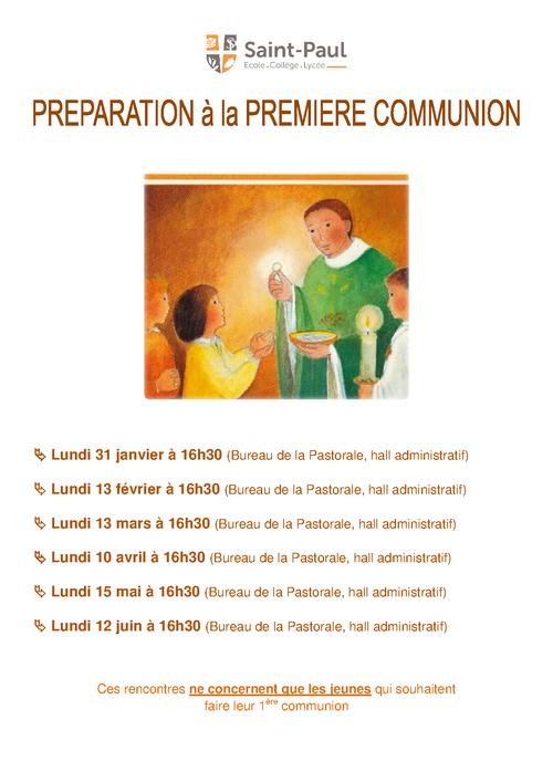 """Rendez-vous """"Préparation 1ère Communion 2017"""""""