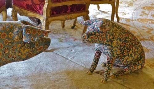 Wim Delvoye cochon grand salon Louvre 8