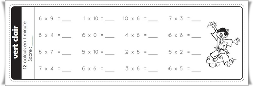 Ceintures de tables de multiplications (nouvelle version)