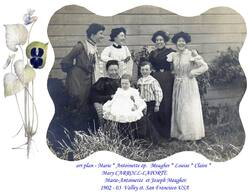Mary CARROLL and daughter and Grand children  1895