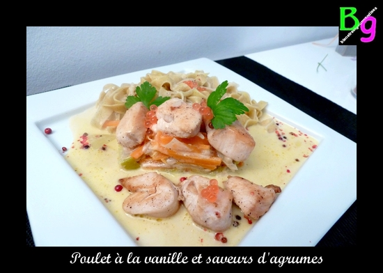 poulet vanille agrumes