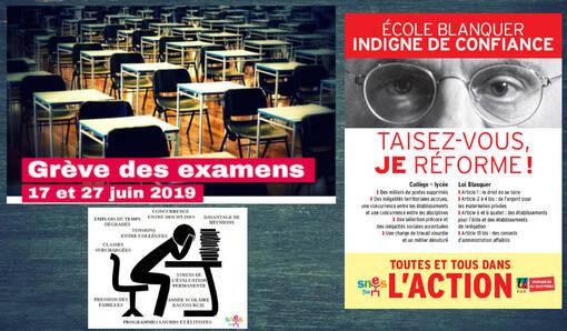 Soutien à la grève des enseignants le premier jour du Bac ! (IC.fr-12/06/19)